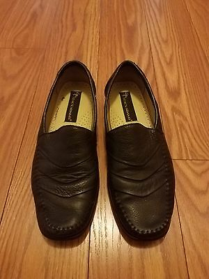 Men's Stacy Adams shoes size 9M black leather loafers slip-ons