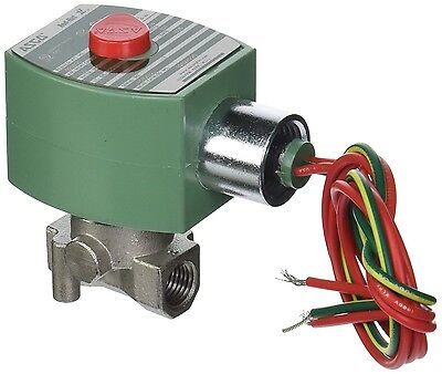 "ASCO 120v 1/4"" Stainless Steel Solenoid Valve Normally Closed Air Water Oil"