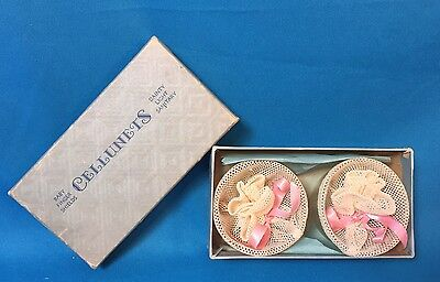 Vintage Baby History CELLUNETS 1920s/30s Celluloid Finger Shields/ Layette NEW