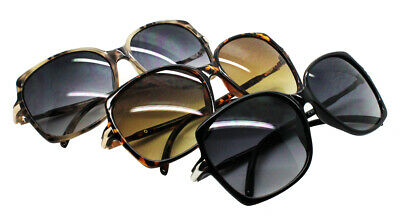 Wholesale Lot 12 Pairs Fashion OverSize Cat Eyes Sunglasses With Colorful Lens