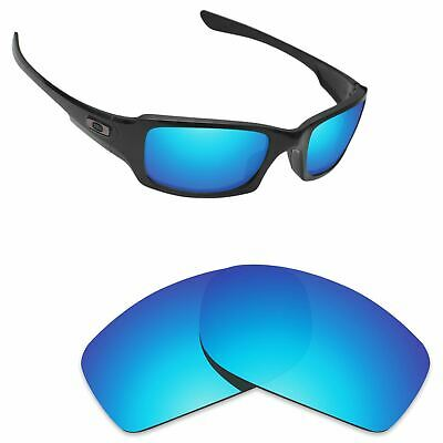 Hawkry Polarized Replacement Lenses for-Oakley Fives Squared Sunglass Ice Blue