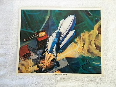 """1975  & 1977 NASA ART CONCEPT SPACE SHUTTLE & FOOD  8"""" X 10"""" PHOTO'S Lot of 6"""