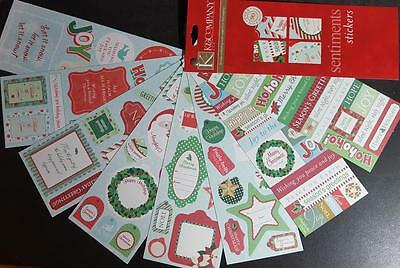 K&Company Christmas Sentiments & Tags Stickers Over 90 NEW