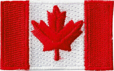 51132 Small Canadian Flag Canada Northern Maple Leaf Embroidered Iron On Patch