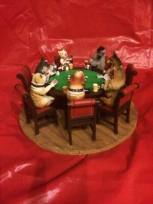 "Dogs Playing Poker. ""A Friendly Game"".   Large  Figure, 9 Inch Base. ""BUY NOW"""