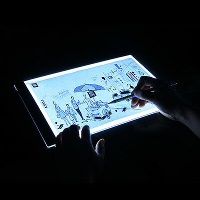 A4 Drawing Tracing Copy Tracer LED Light Box Pad Art Graphic Tattoo Sketch Board