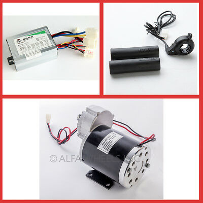 450 Watt 36 Volt electric gear motor w speed controller & Thumb Throttle f DIY