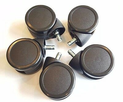 """NEW - 3"""" Inch Office Chair Caster Wheels - High Quality - Steelcase - Set of 5"""