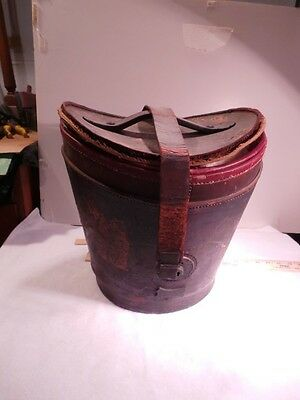 Antebellum Gentleman's Leather Hat Box for Two Top Hats,  A-7