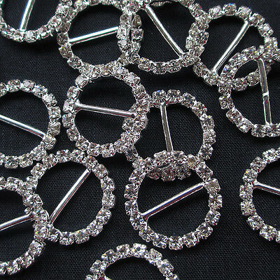 New 10/50pcs Inner 20mm Rhinestone Round Buckle Buttons Sewing Craft