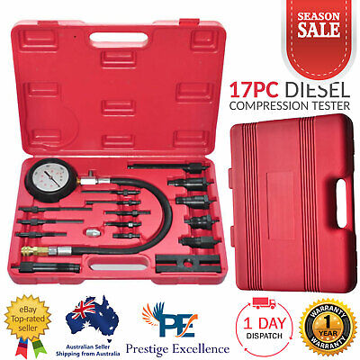 Diesel Engine Compression Tester Car Cylinder Pressure Meter Repair Testing Tool