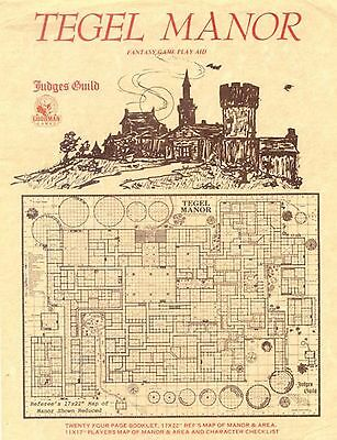 Judges Guild Classic Reprint: Tegel Manor (1E Adventure, w/maps) GMG4610