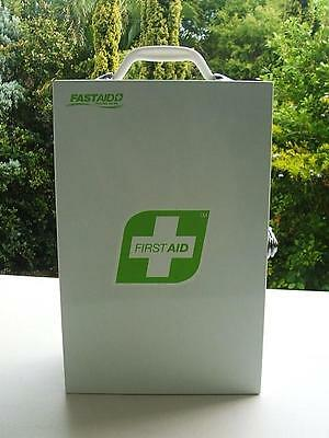First Aid Kit - Metal - Side Open - Portable Or Wall Mount - Home Or Business