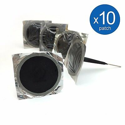 "Car Tire Repair Patch Plug 7mm(1/4"") stem, 50mm(2"") patch *10 FREE SHIPPING"