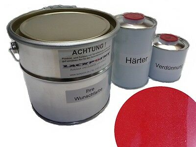1 Liter Set 2K Car paint Mystic Red Metallic Red no clear coat Lackpoint Tuning