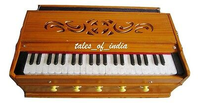 Basic Harmonium ~5 Stopper~3 1/2 Octave~Pine Wood~7 Fold Bellow~Double Reed