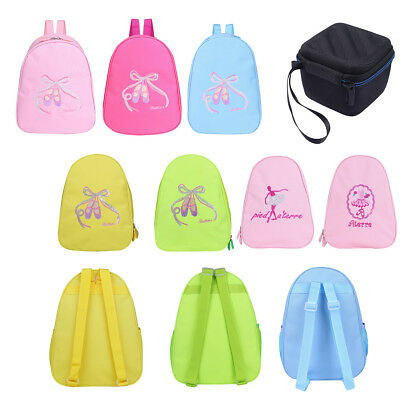 New Girls Kids Light Pink Tote Dance Bag Dance Ballet Shoe Embroidered Tote