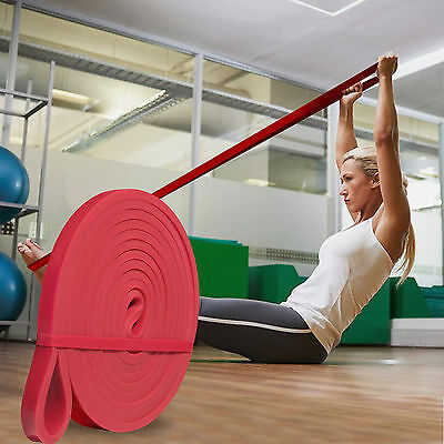 Power 2-15lb Resistance Strength Band Loop Gym Fitness Exercise Yoga Workout 2pc