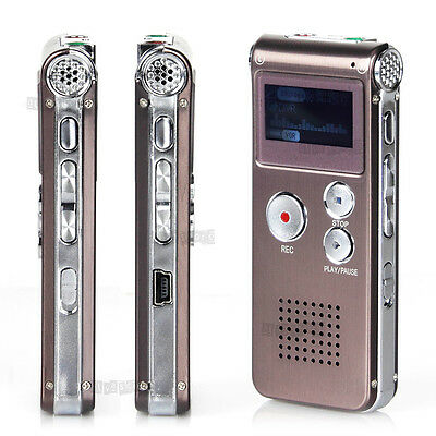 8GB Digital Voice Recorder MP3 Player New USB Audio Rechargeable Dictaphone