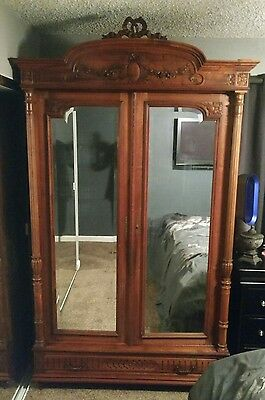 Immaculate! 19th Century Antique French Louis XVI Walnut Armoire, Wardrobe