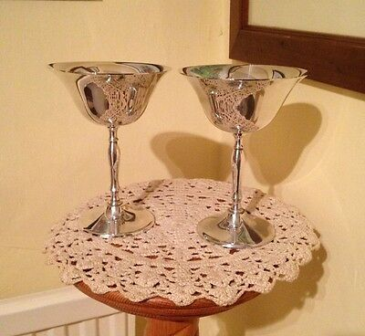 2 x Matching Silver Plated Goblets