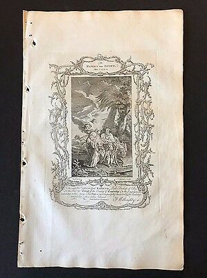 Antique Bible Print - 1778 Practical Family Bible, The Flight into Egypt