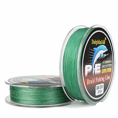 4x 300M Super Strong Strength Green PE Dyneema Sea Braided Fishing Line 8LB lead