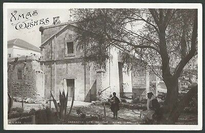 Nazareth Israel Site Of The Home Of Jesus 1908 Rotary Real Photo Postcard