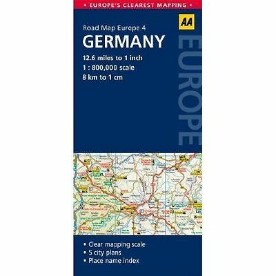 4. Germany: AA Road Map Europe by AA Publishing (Sheet map, folded, 2014)