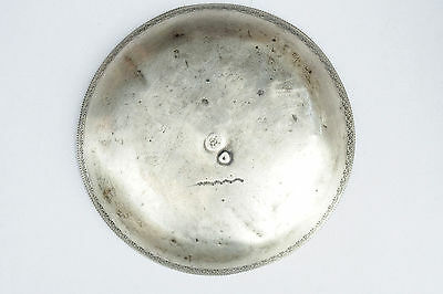 Antique Islamic Ottoman Turkish Solid Silver Bowl Plate 19C Hand Made