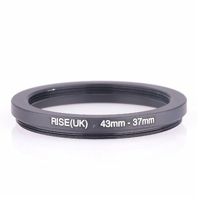 RISE(UK) 43-37MM 43 MM- 37 MM 43 to 37 Step Down Ring Filter Adapter