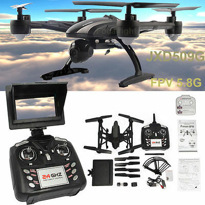JXD 509G FPV Drone RC Quadcopter Helicopter 5.8GHz 4CH w/ 2.0MP Camera High Set