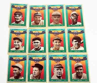 BASEBALL HALL OF FAME HEROES SET OF 12 STAMP CARDS (New in the Box)