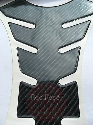 High Quality 5D Carbon Fibre Look Motorcycle Tank Pad Protector Motorbike Spine