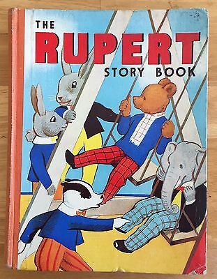 THE RUPERT STORY BOOK MARY TOURTEL Not Inscribed  1941 Very Good Condition