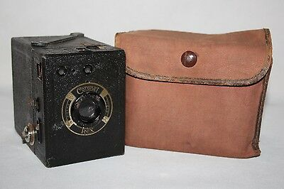 Coronet Rex - c1935 120 Film Box Camera in Case - Working