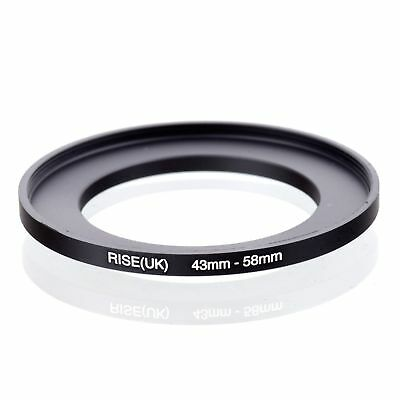 RISE(UK) 43-58mm 43-58 Matel Step-up Fiter Ring Camera Adapter 43-58