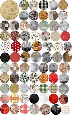 Round Party Events Luxury Pvc Oil Vinyl Table Cloths Plain Printed Wipe Clean
