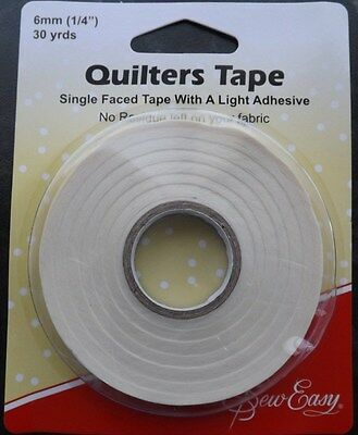 Sew Easy Single faced Quilters Tape  27.4m x 6mm  (30 Yards)