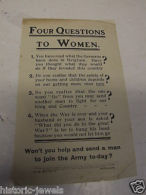 WW1 HOME FRONT leaflet 31 RECRUITMENT