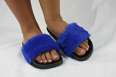Sofia Jelly Fluffy Sandal Women Shoes Slip On Fur Slides Leadcat Slippers Furry
