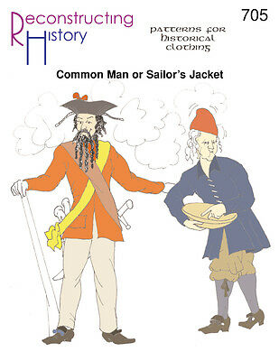 Common Man Or Sailors Jacket -Reconstructing History Paper Patterns -  Rh705