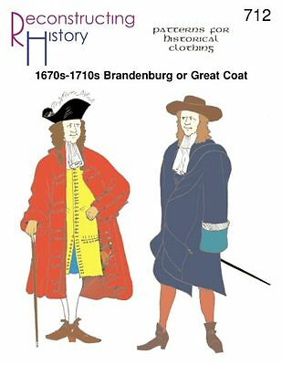 1670S-1710S BRANDENBURG / GREAT COAT-Paper Pattern-  RECONSTRUCTING HISTORY  712