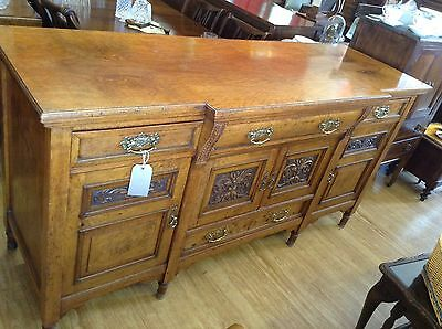 Stunning Early Edwardian Ornately Carved Sideboard UK MAINLAND DELIVERY INCLUDED