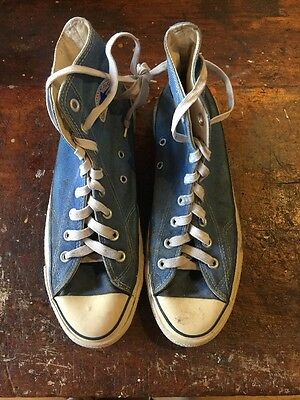 Vintage EXTRA STITCH, USA-MADE Converse All Star Blue Punk , Men's 8.5