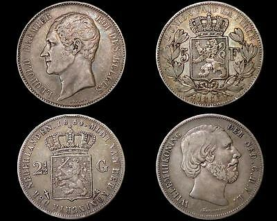 WORLD SILVER COINS *OLD DATES:1800's*  CROWN SIZE