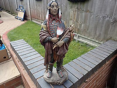 Large Native Indian Figure (good Condition)