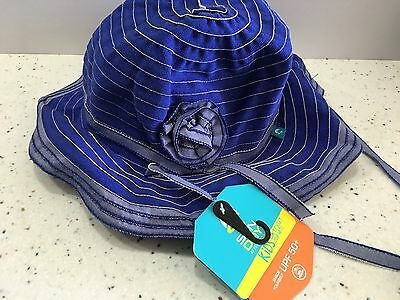 Sunday Afternoons Kids LILY Sun Hat Periwinkle with Flower Large NWT