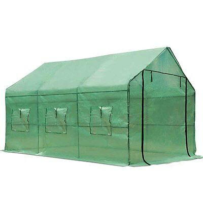 FREE SHIPPING - Greenhouse with Green PE Cover - 3.5M x 2M