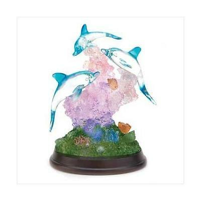 Gifts & Decor Light Up Dolphin Sculpture Figurine Desk Table Figure New